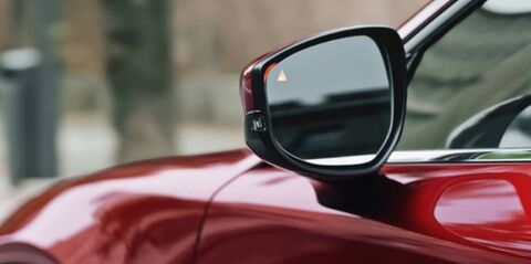 Side mirror on the driver's side