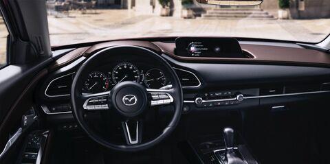 Dashboard of Mazda vehicle