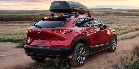 Mazda CX-30 in a plains region