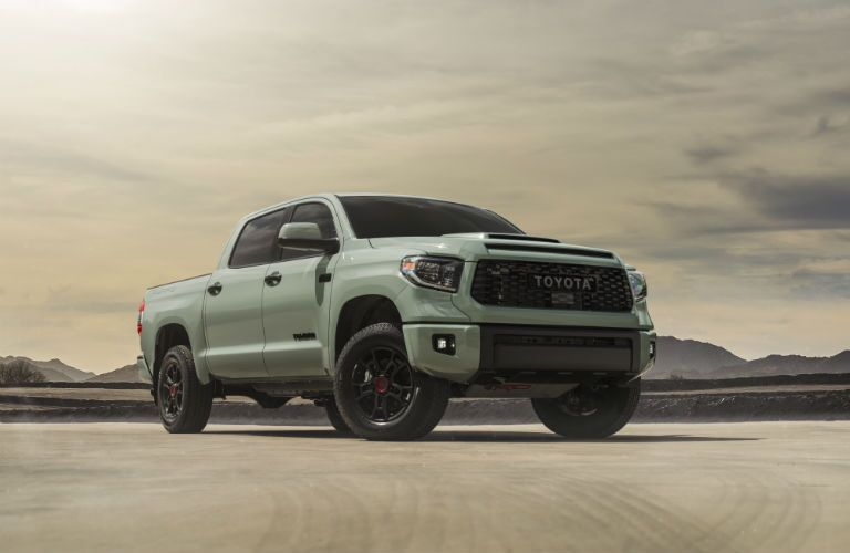 A photo of the 2021 Toyota Tundra Trail in the desert.