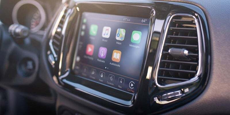 Center touchscreen inside 2019 Jeep Compass