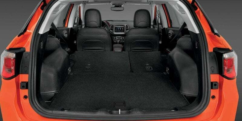 Rear cargo area of 2019 Jeep Compass