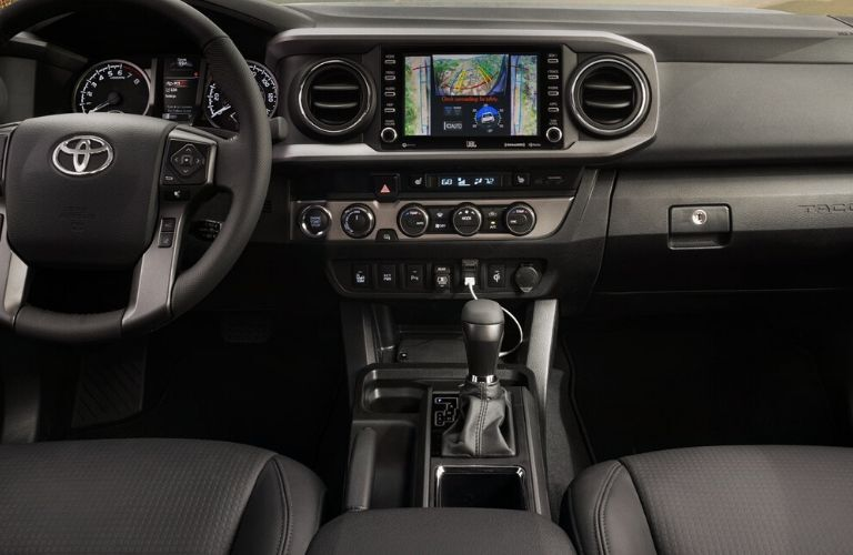 2020 Toyota Tacoma interior wheel and dash view