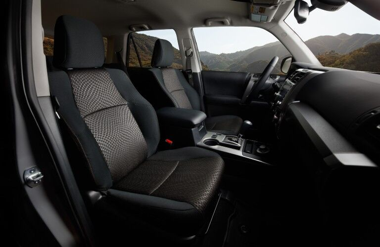 A photo of the front seats in the 2021 Toyota 4Runner.