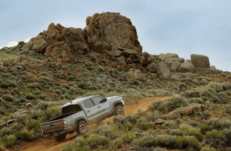 2020 Toyota Tacoma driving on a trail