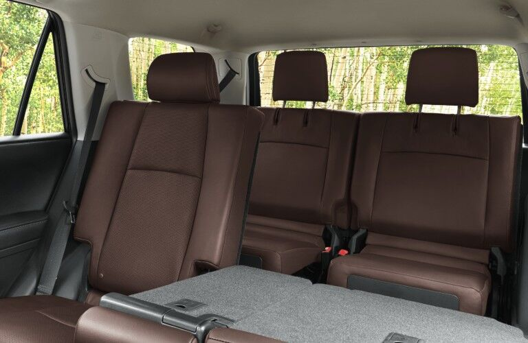 A photo of the second and third row seats in the 2021 Toyota 4Runner.