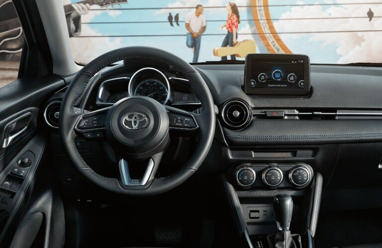 interior of 2020 Toyota Yaris