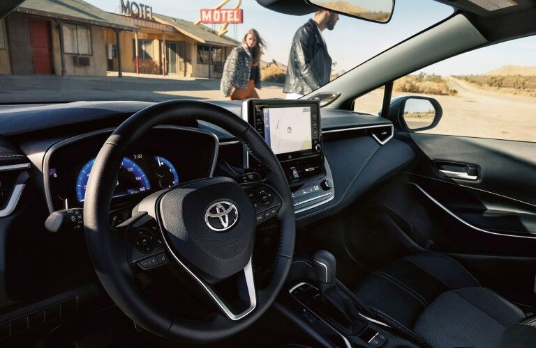 dashboard of the 2020 Toyota Corolla Hatchback