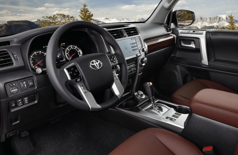 A photo of the driver's cockpit in the 2021 Toyota 4Runner.