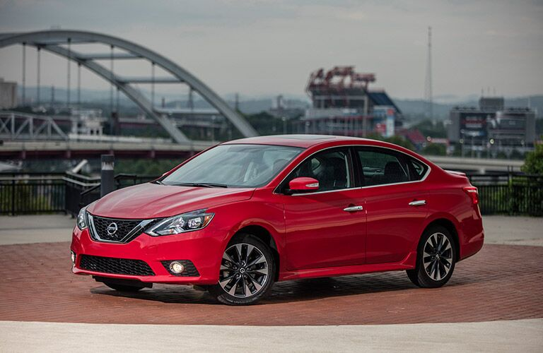 2017 Nissan Sentra in red