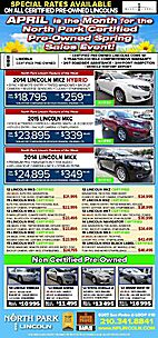 April Certified Pre-Owned Sales Event at North Park!