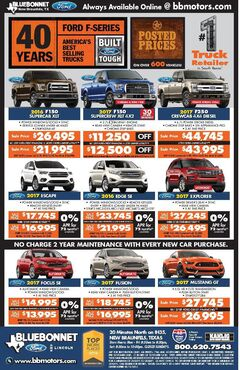 Bluebonnet Ford New Specials