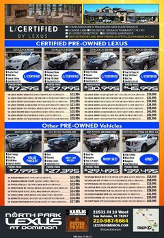 North Park Lexus at Dominion - Pre-owned Specials