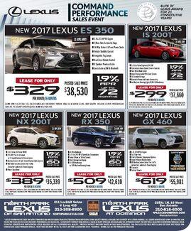 North Park Lexus at Dominion -New Specials