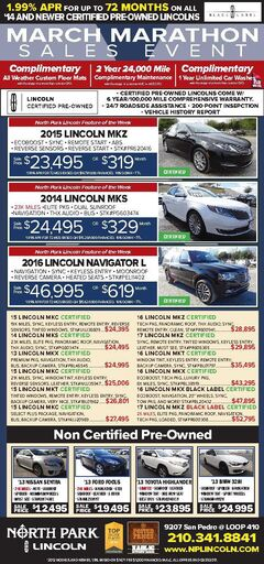 North Park Lincoln - Pre-Owned Specials