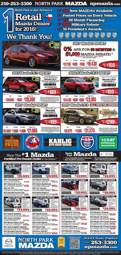 North Park Mazda - New & Pre-Owned Specials