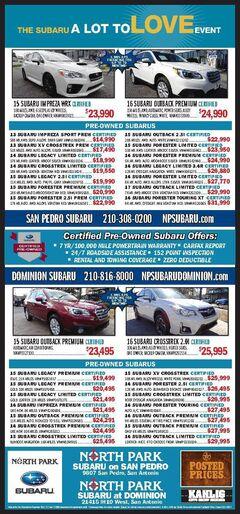 North Park Subaru San Antonio & Dominion - Pre-Owned Specials