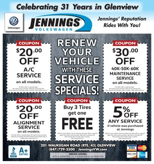 August Service Coupons
