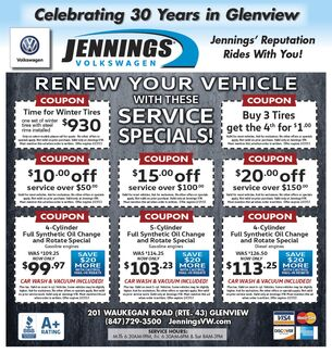 December Service Coupons