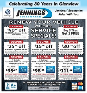 March Service Coupons
