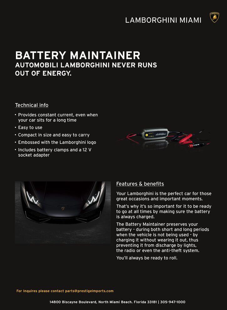 Lamborghini Battery Maintainer