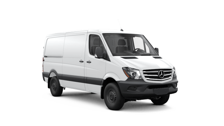 New Mercedes-Benz Sprinter Worker Cargo Van near Greenland