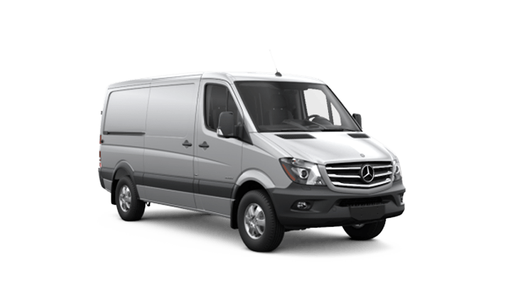 New Mercedes-Benz Sprinter Cargo Vans near Greenland