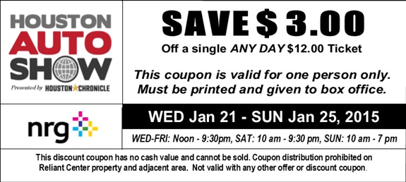Houston auto show discount coupons