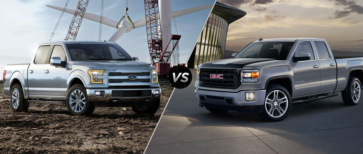 2015 ford f 150 vs 2015 gmc sierra 1500. Black Bedroom Furniture Sets. Home Design Ideas