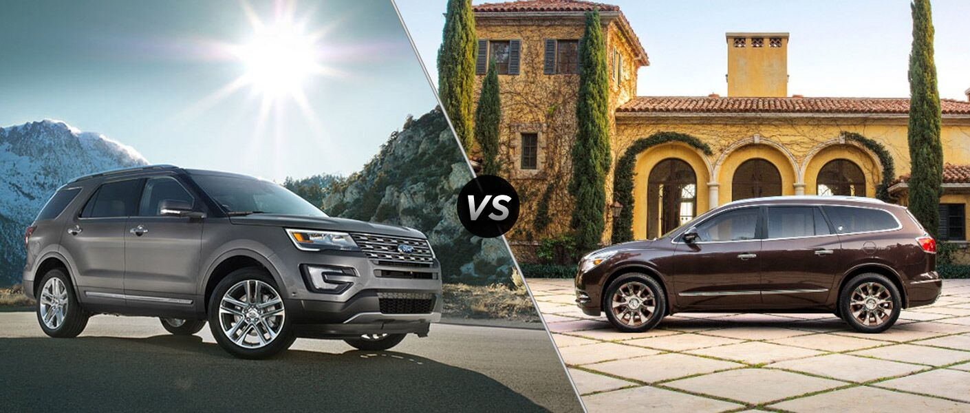 2016 Ford Explorer vs 2016 Buick Enclave
