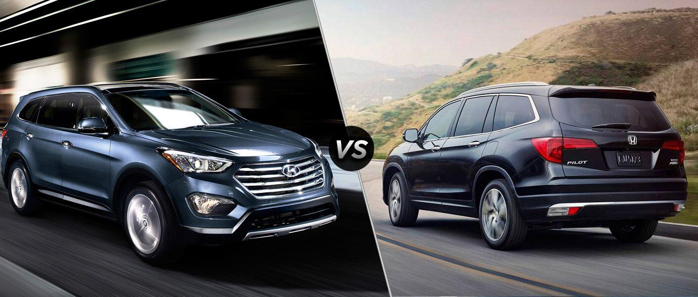 2016 Hyundai Santa Fe vs 2016 Honda Pilot