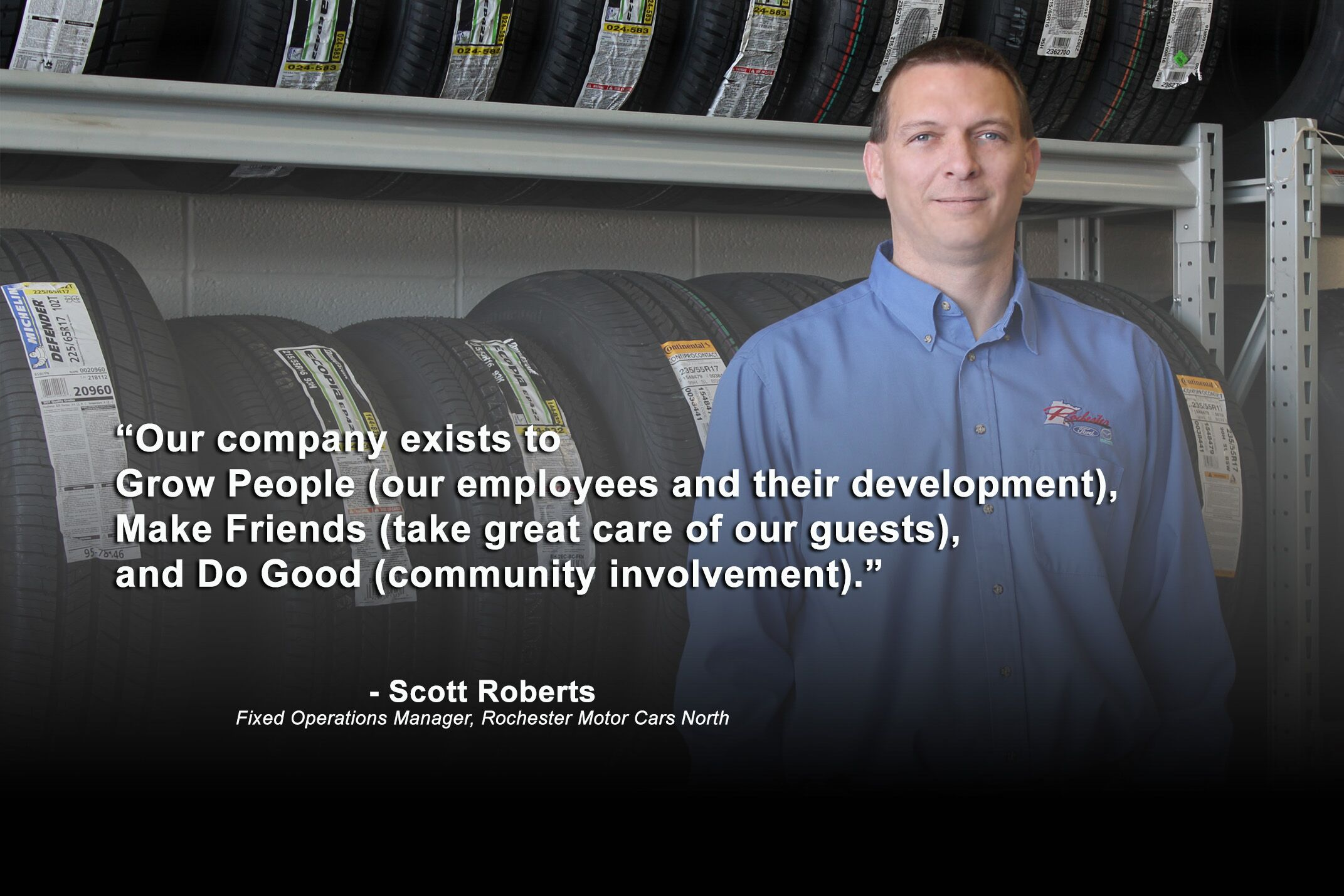 scott roberts fixed operations director of north stores of rochester motor cars - Fixed Operations Director