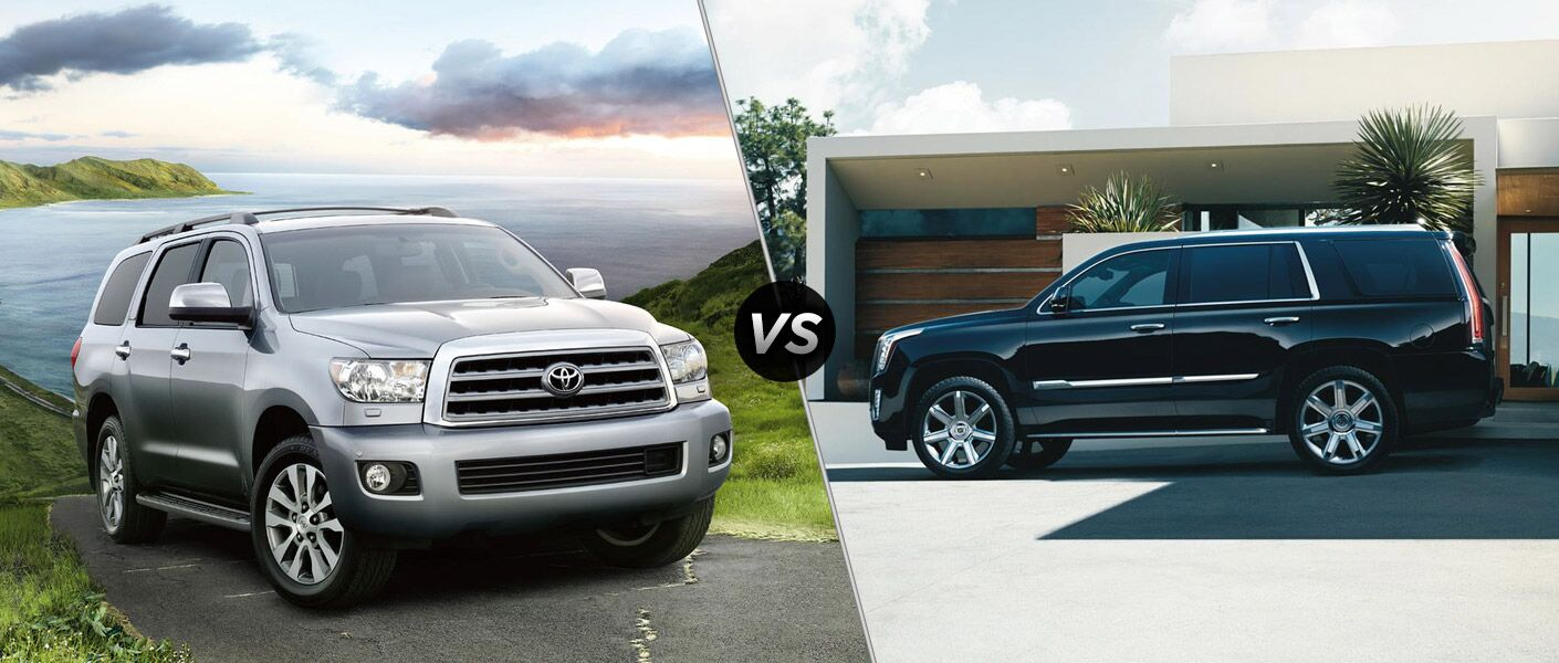 2016 Toyota Sequoia vs 2016 Cadillac Escalade