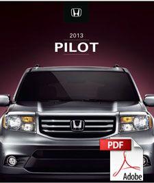2013 Honda Pilot Brochure PDF