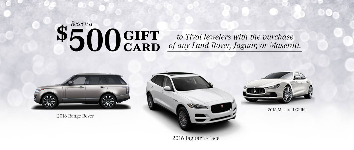 Aristocrat Motor's December Incentive gift card