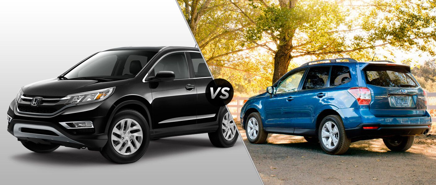 2015 honda cr v vs 2015 subaru forester