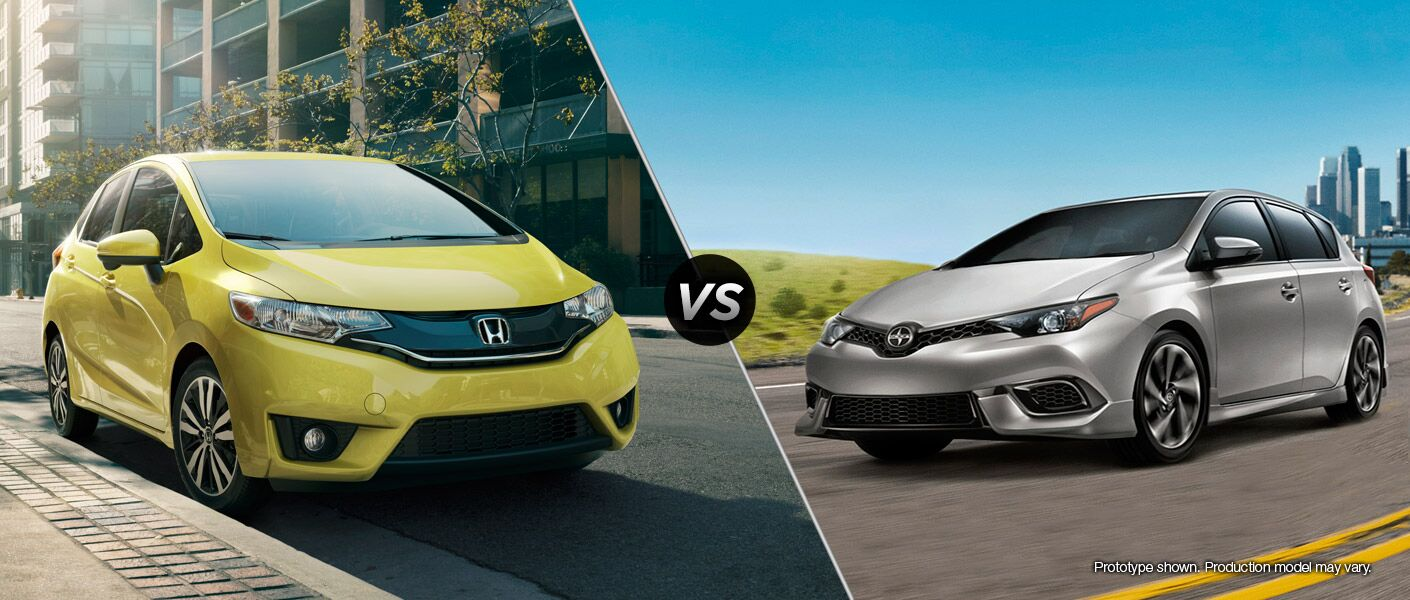 2016 Honda Fit vs 2016 Scion iM