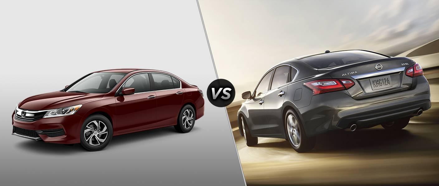 2016 Honda Accord LX vs 2016 Nissan Altima