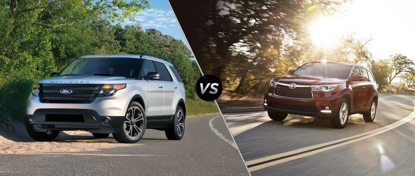 2015 Ford Explorer vs 2015 Toyota Highlander
