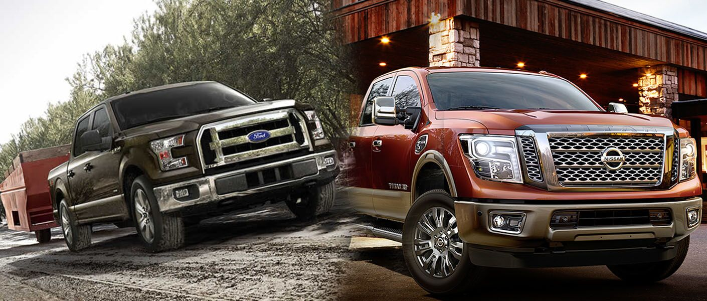 2015 Ford F 150 Pickup Truck Comparison 2016 Nissan Titan Cummins Ecoboost