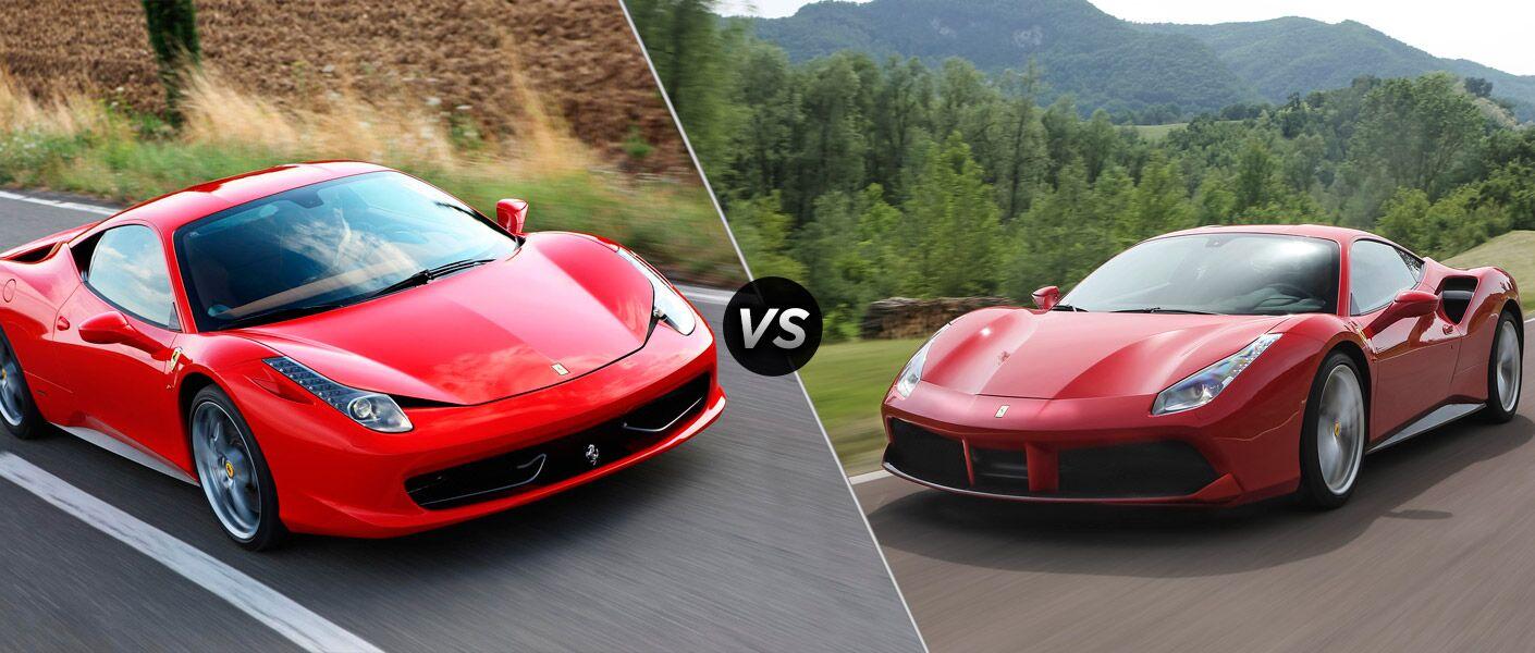 2015 Ferrari 458 Italia Vs 2015 Ferrari 488 Gtb