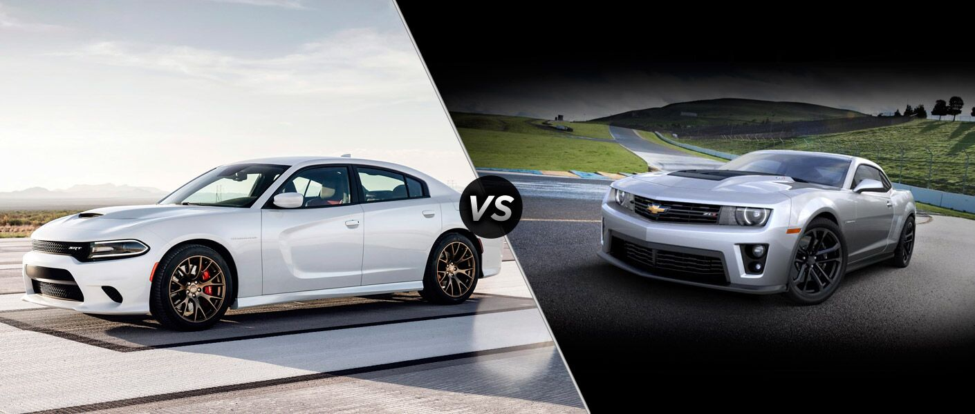 2015 Dodge Charger SRT Hellcat vs. 2015 Chevy Camaro