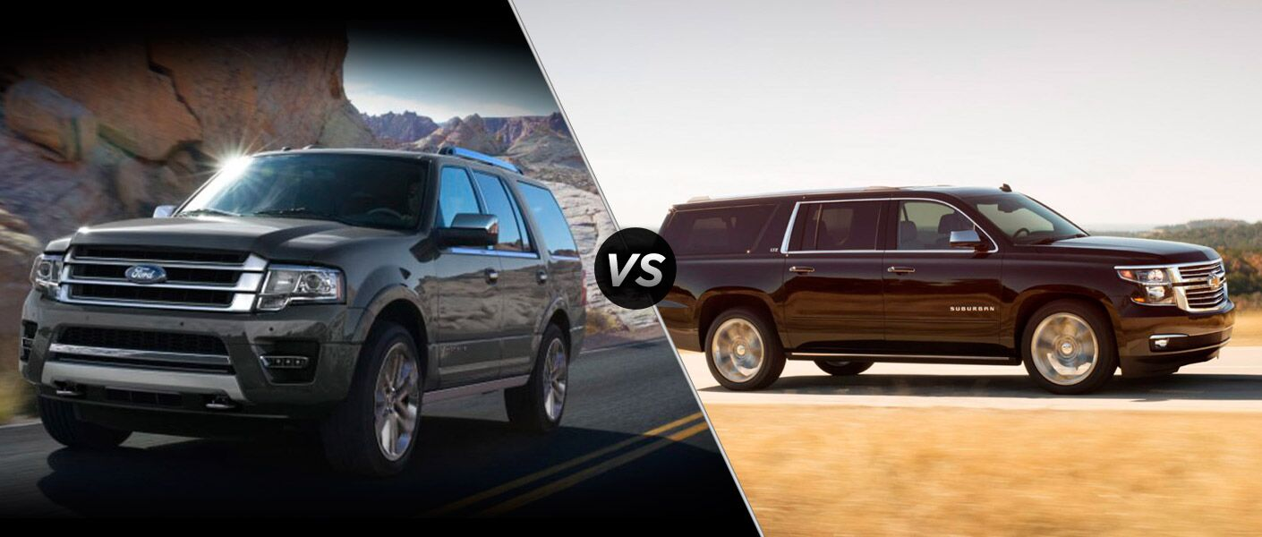 2015 Ford Expedition vs Chevy Suburban