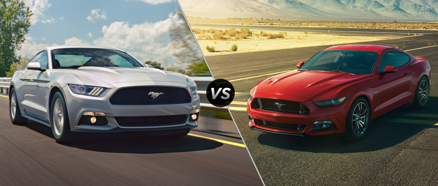 2015 Ford Mustang EcoBoost vs 2015 Ford Mustang GT