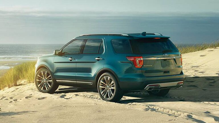 The exterior of the 2016 Ford Explorer in Albert Lea MN is sleek and refined.