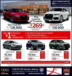 Audi North Park - New Vehicle Specials