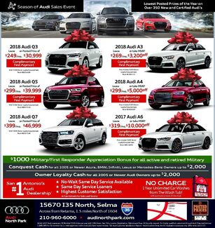 Audi North Park - New Vehicle Specials
