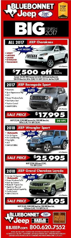 Bluebonnet Jeep New Specials