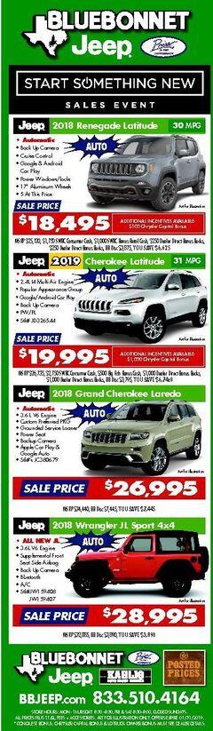 Bluebonnet Jeep New Specials