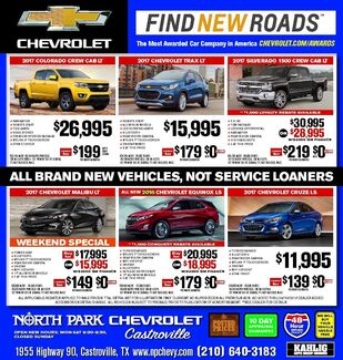 North Park Chevrolet - New & Pre-Owned Specials